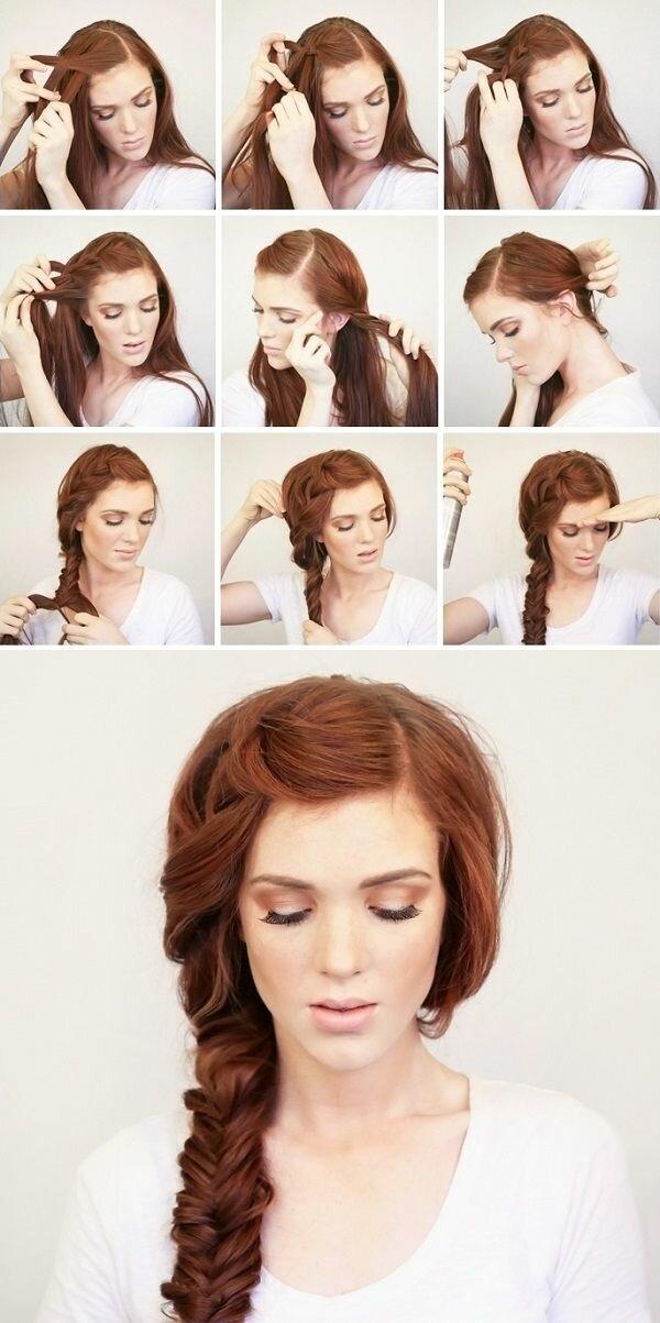 Как делать прически на бок на длинные волосы