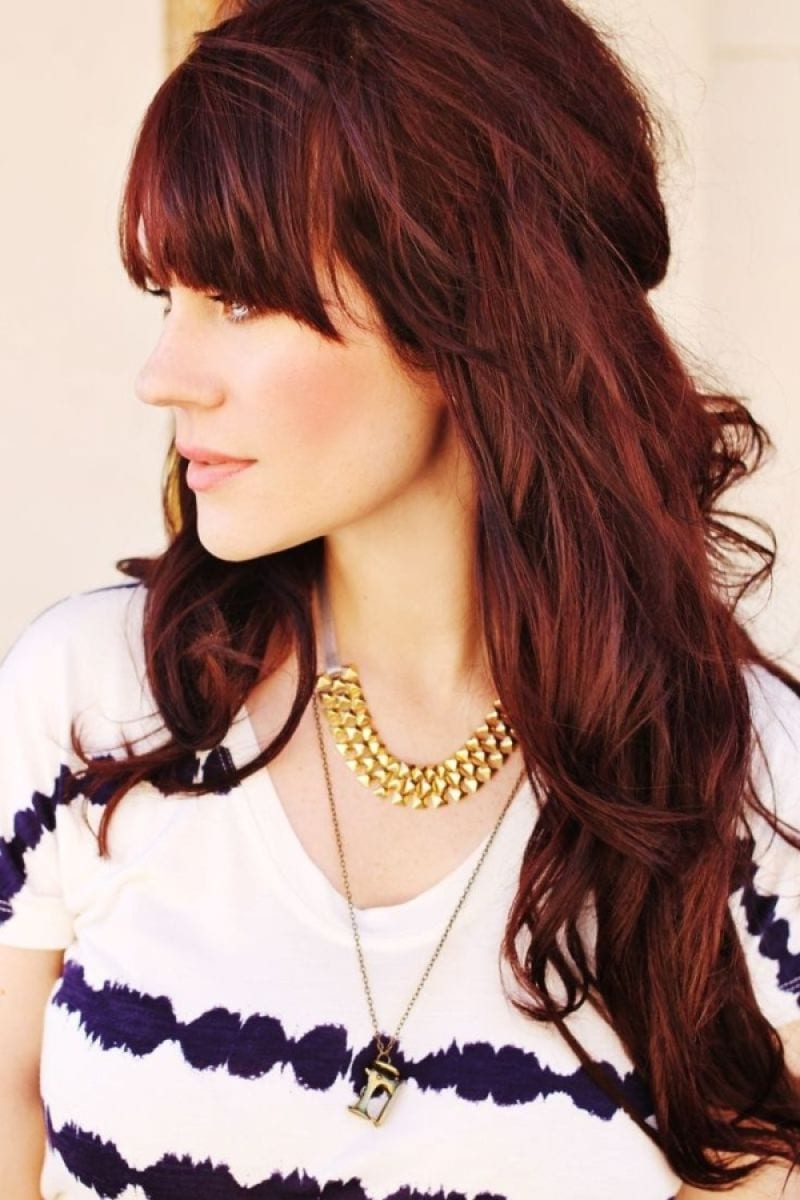 Dark brown hair with red highlights tumblr